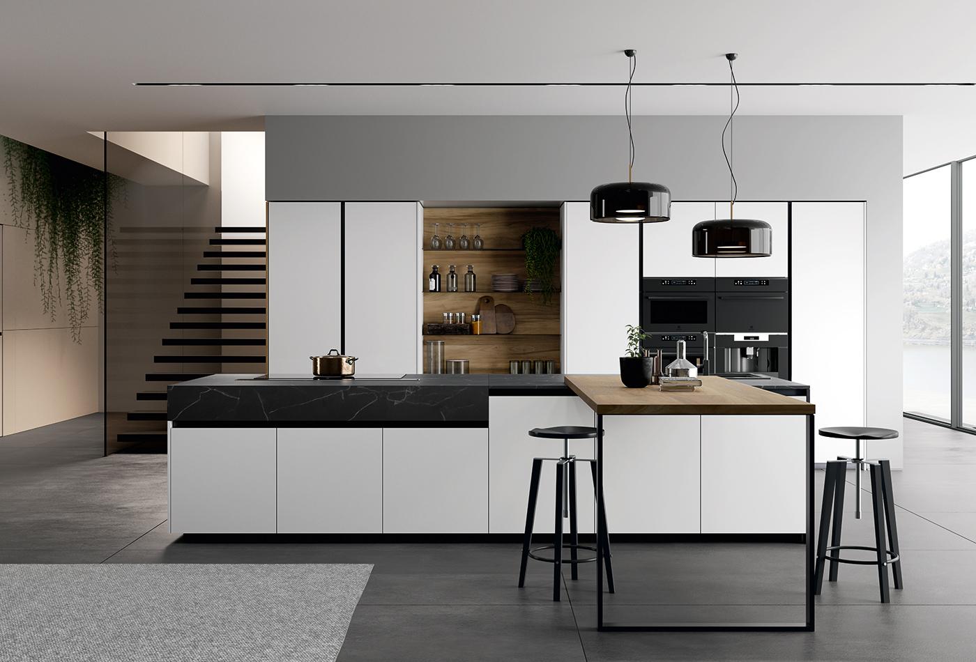 cucina moderna con isola Arredo3 Glass