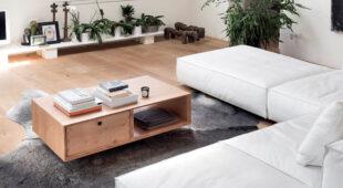 Alta Corte tavolino Double abete con cassetti