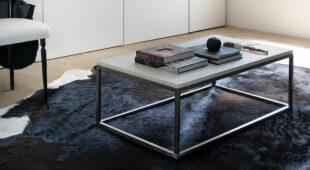 Alta Corte tavolino Easylab Iron abete spazzolato telaio ferro Iron