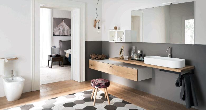 arredo bagno Alta Corte Ecobath Gap1 top pensile specchiera lavabo