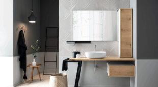 arredo bagno Alta Corte Ecobath Teddy4 base cassetto pensile specchiera lavabo