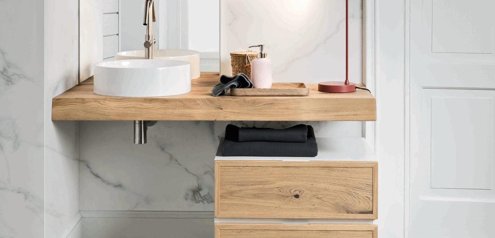 arredo bagno Alta Corte Ecobath Teddy5 cassettiera su ruote specchiera lavabo