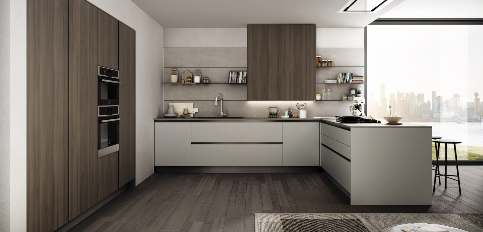 cucina moderna lineare Arredo3 Cloe foto 4