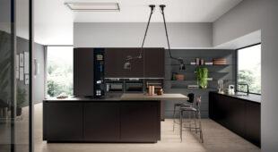 cucina moderna con penisola Arredo3 Glass 2.0 foto 02