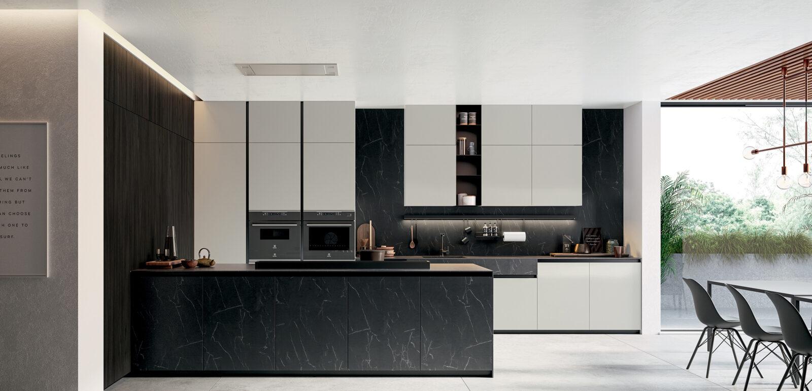 cucina moderna con penisola Arredo3 Glass 2.0 foto 03