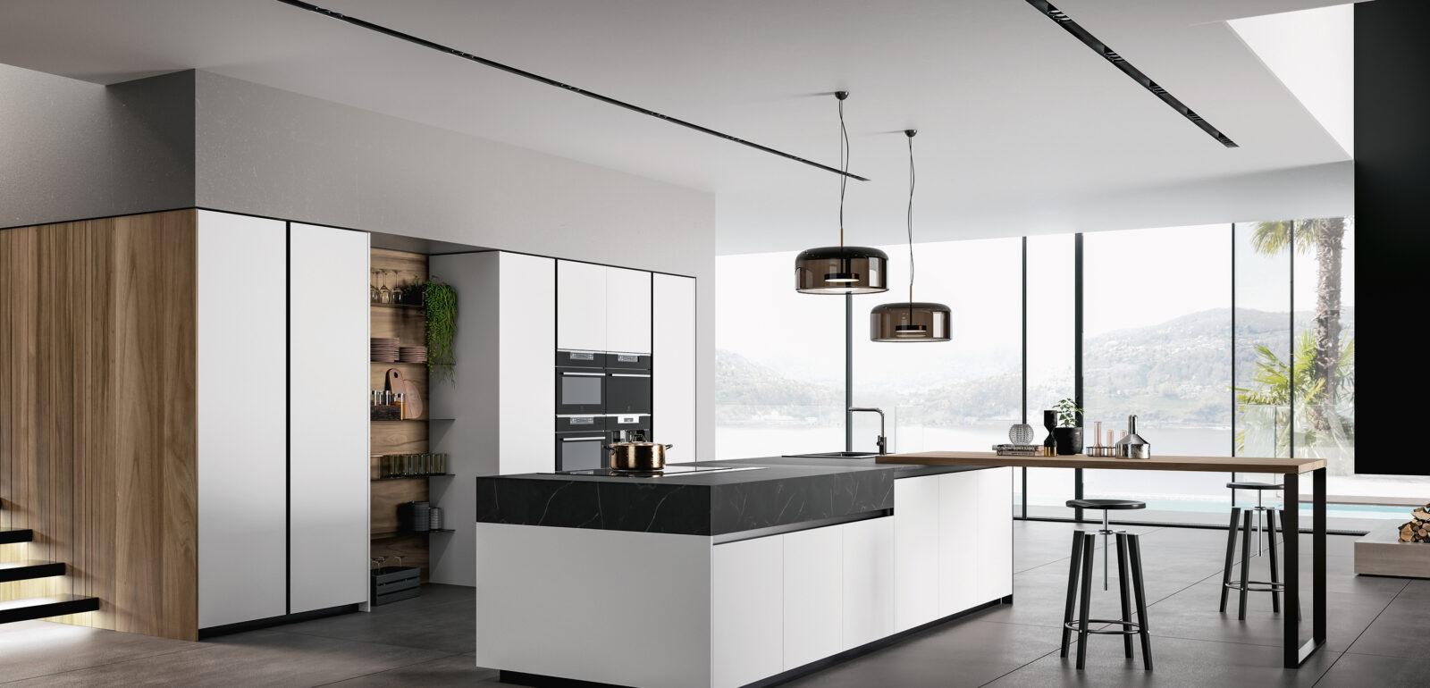 cucina moderna con penisola Arredo3 Glass 2.0 foto 06