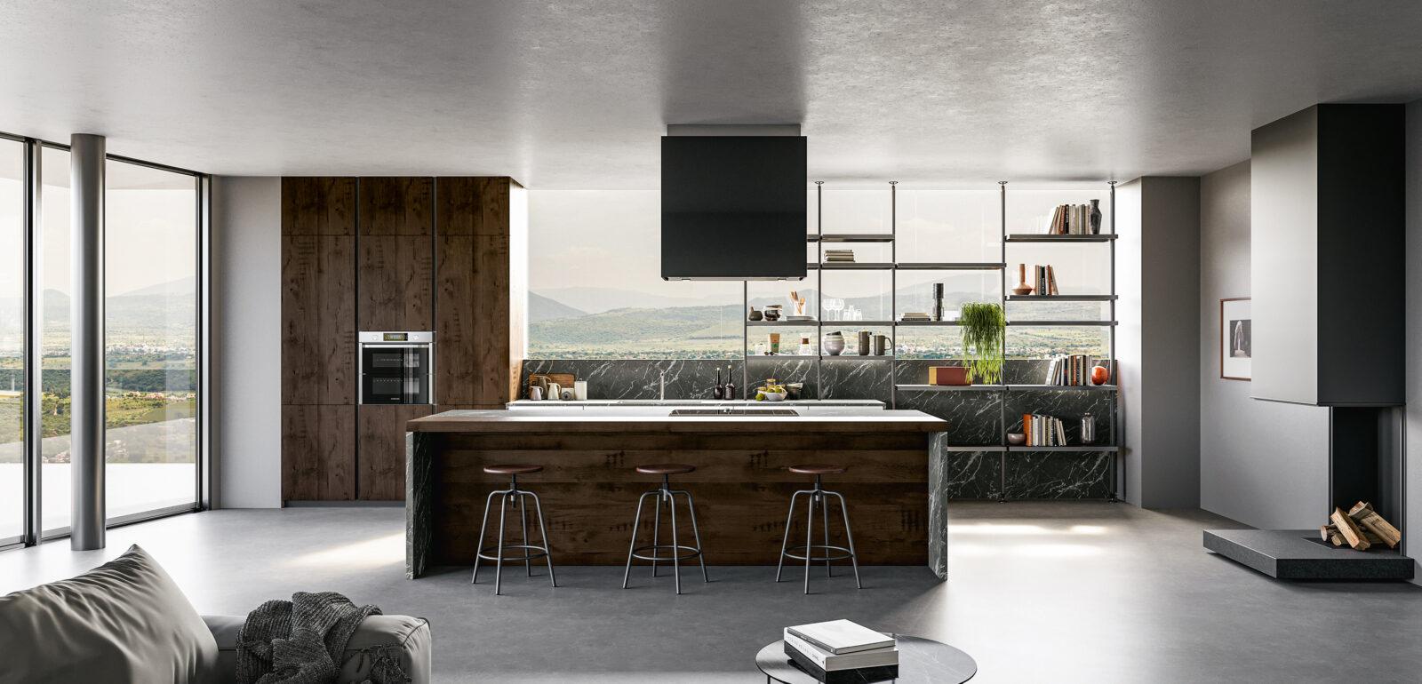 cucina moderna con isola Arredo3 Tekna foto 02