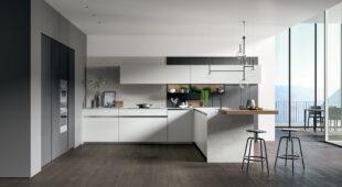 cucina moderna con penisola Arredo3 Glass 2.0 foto 01