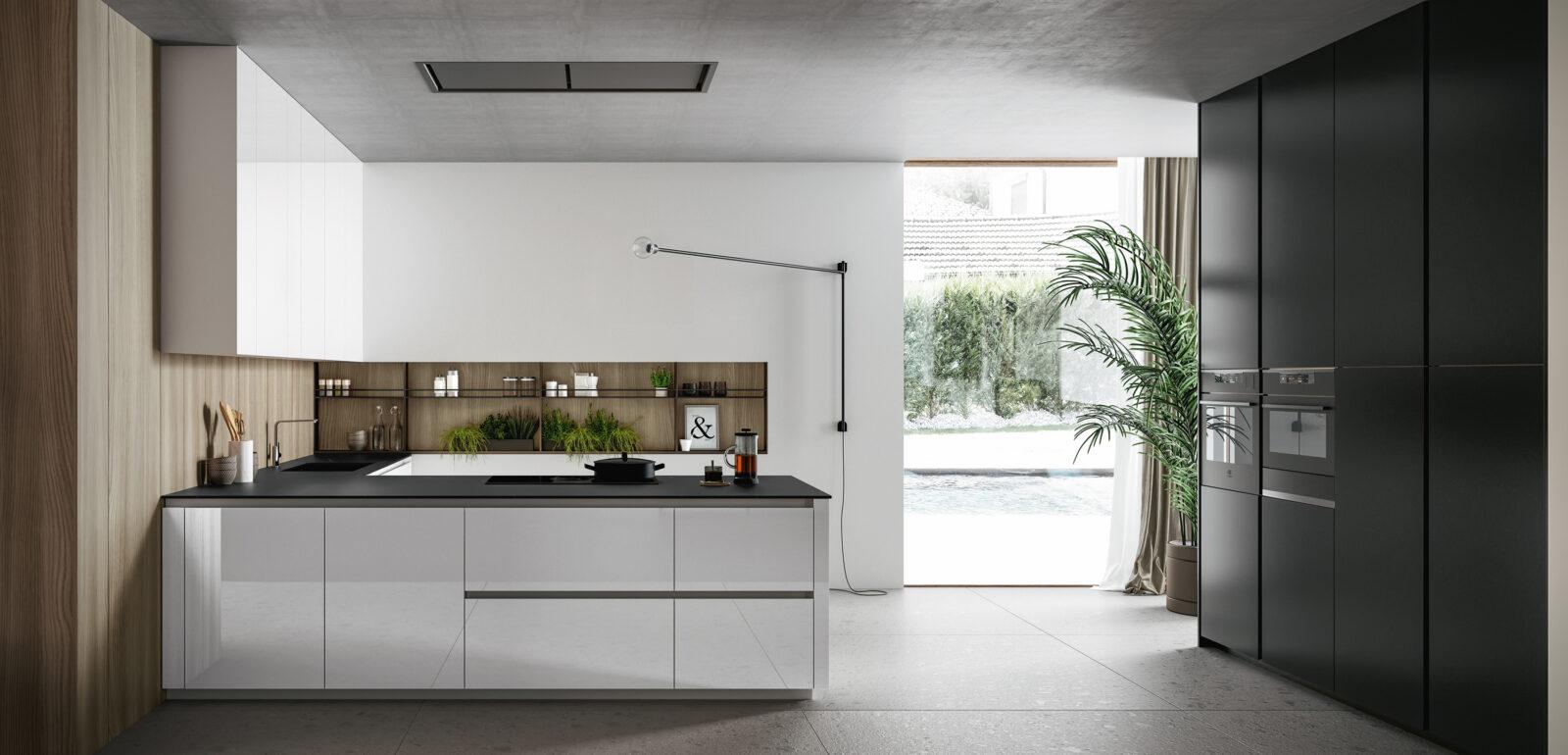 cucina moderna con penisola Arredo3 Glass 2.0 foto 04