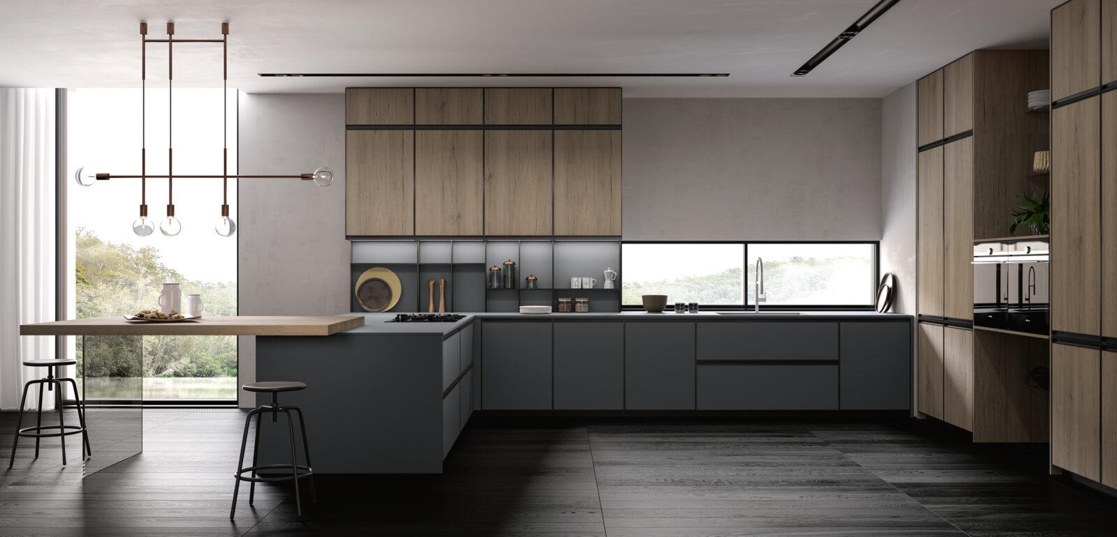 cucina moderna con isola Arredo3 Kronos foto 02