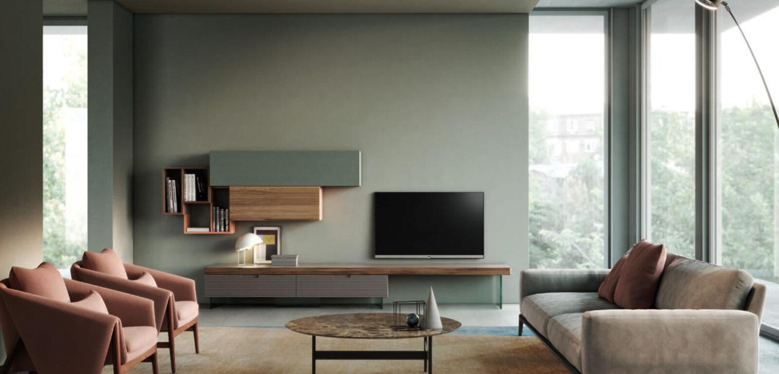 mobili soggiorno moderno Devina Nais Zero.16