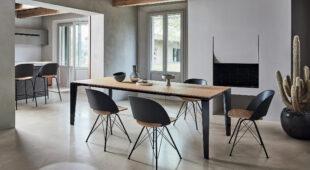tavolo allungabile con piano in legno Bontempi Cruz 2