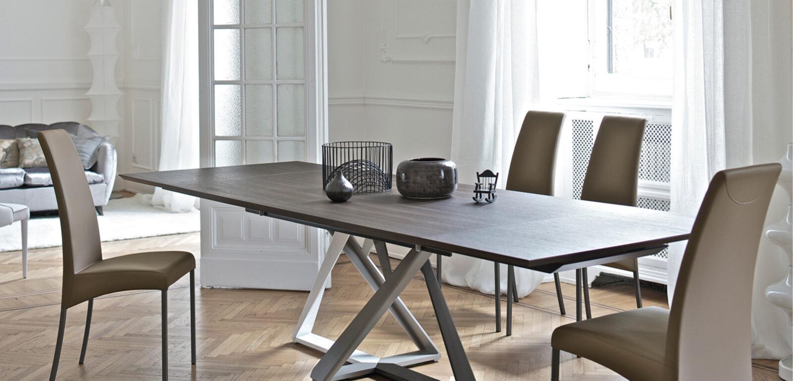 tavolo allungabile con piano in legno Bontempi Millennium 2