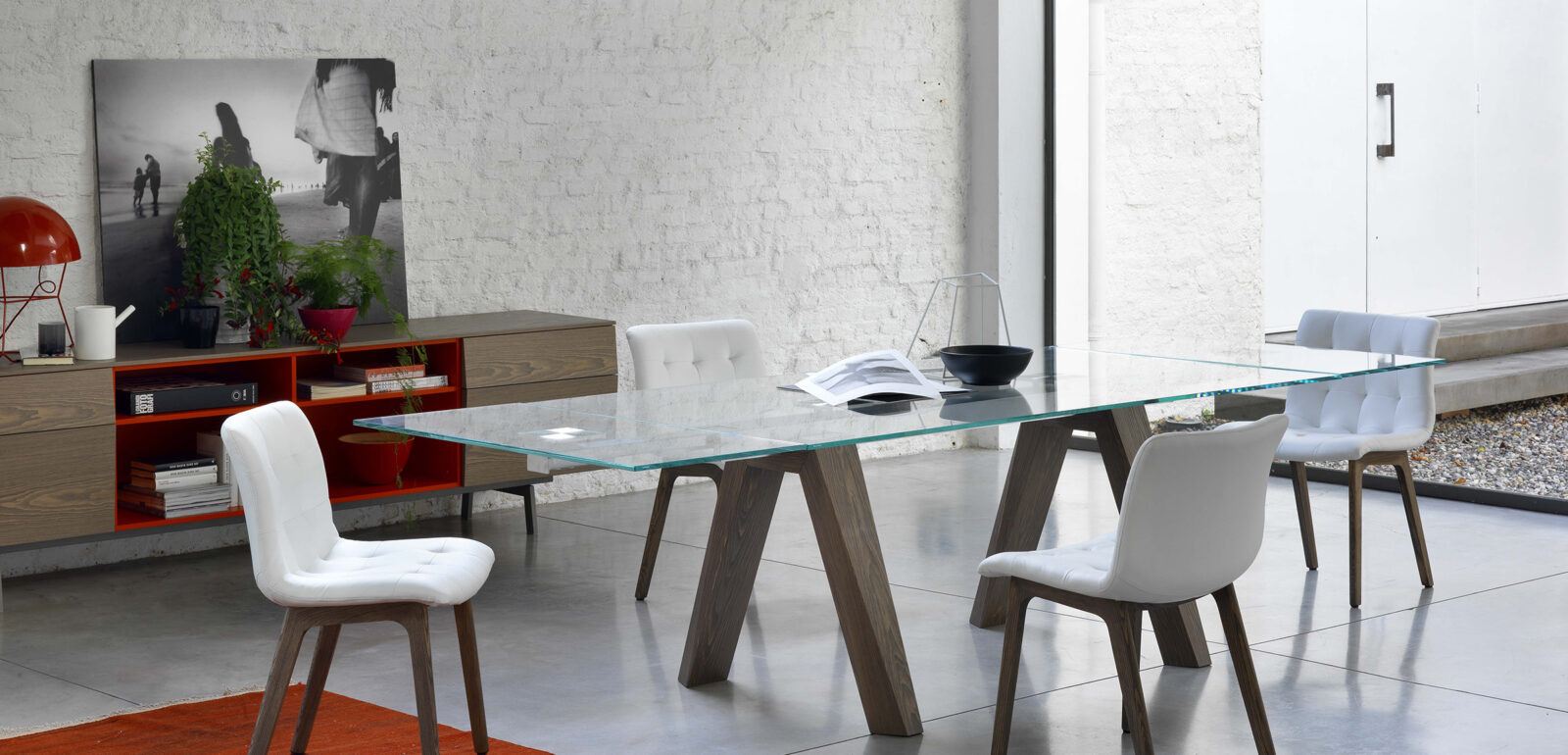 tavolo allungabile in vetro Bontempi Aron
