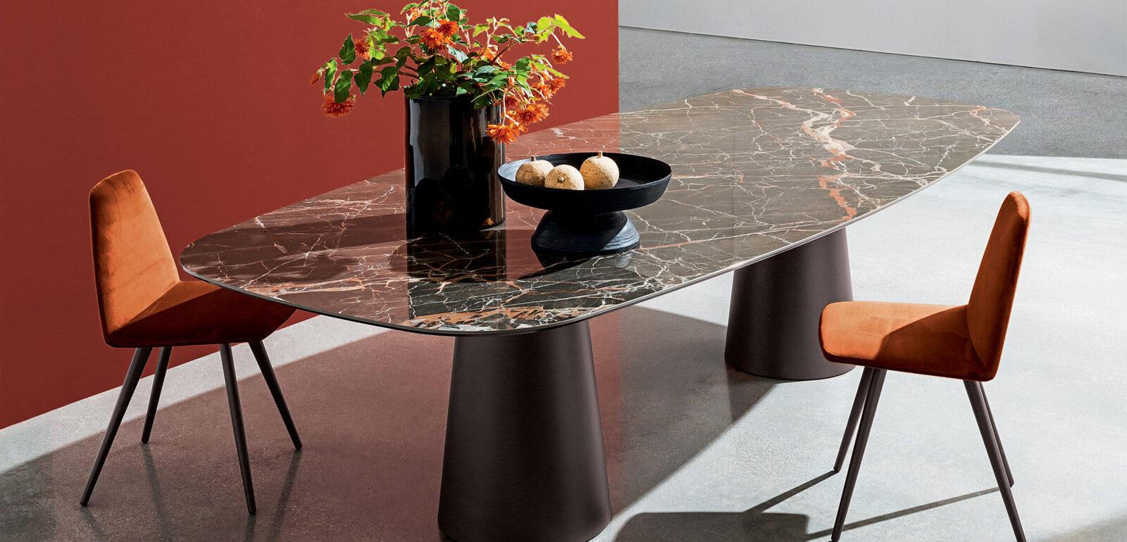 tavolo con doppia base Sovet Totem