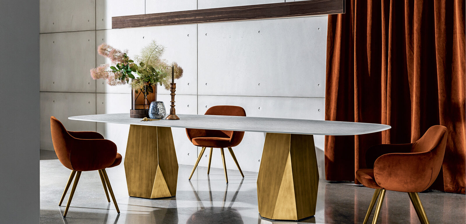 tavolo con due basi Sovet Deod