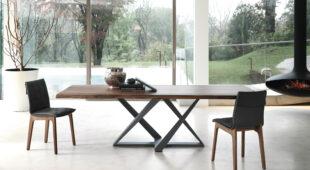 tavolo fisso con piano in legno Bontempi Millennium 1