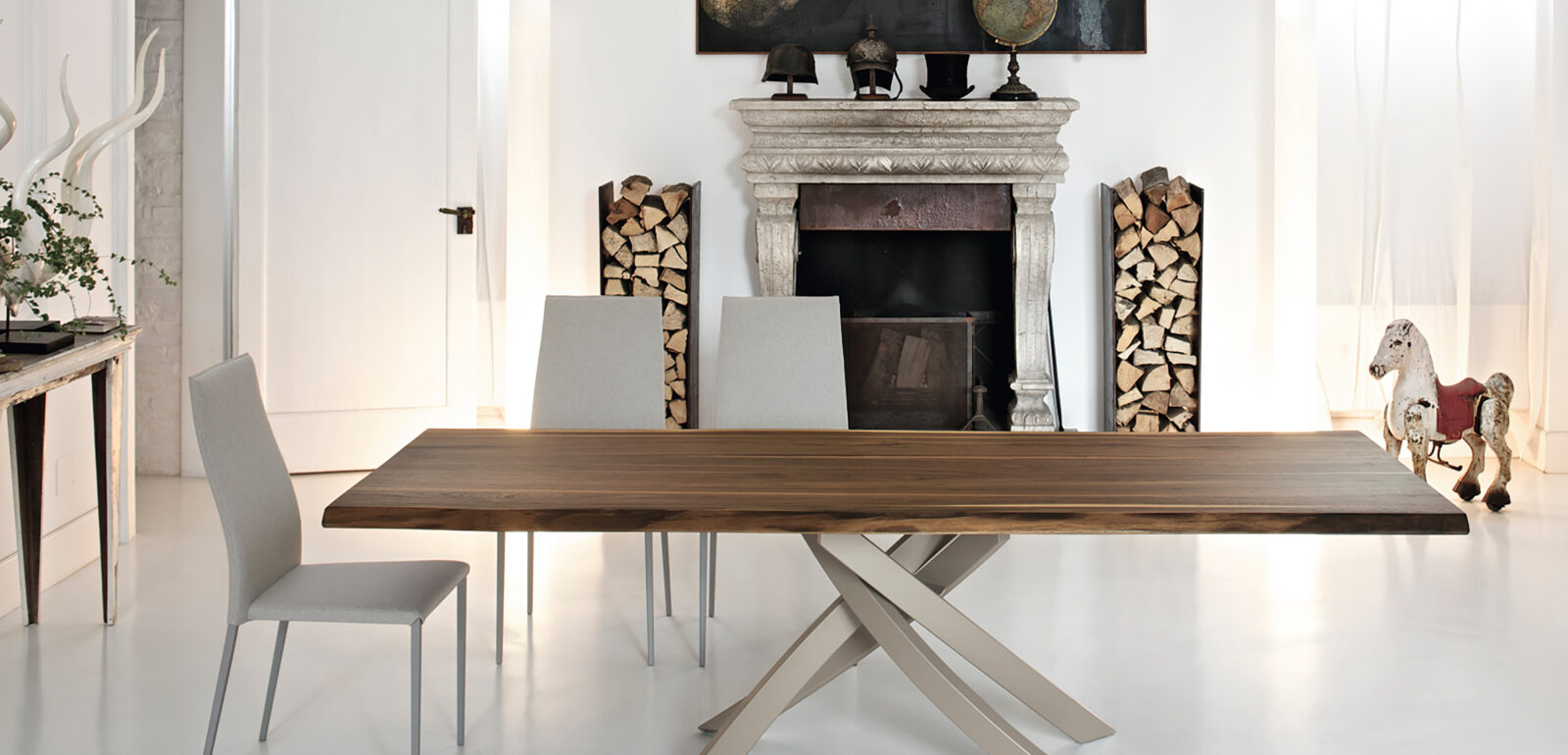 tavolo fisso in legno Bontempi Artistico 1